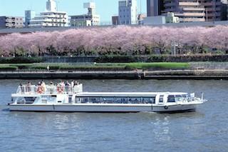 水上バスからの桜:出典:水上バスで行こう!